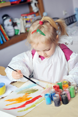 unschooled girl painting