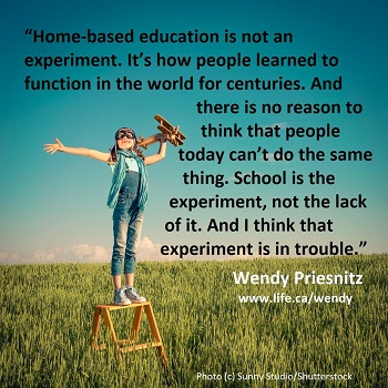 School is the experiment - Wendy Priesnitz