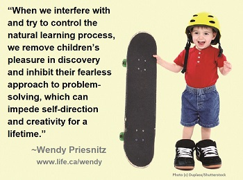 inhibit problem-solving quote by Wendy Priesnitz