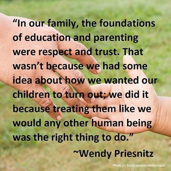 doing the right thing as parents by Wendy Priesnitz
