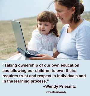 Wendy Priesnitz - quote about trusting kids