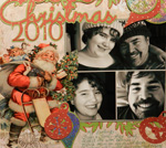 Christmas card collage