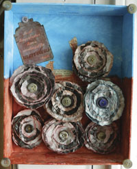wall art from recycled materials