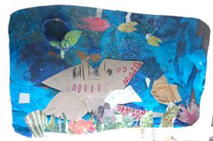 Shark Habitat Diorama