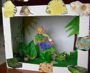 Tropical Lady diorama by Violet Stock