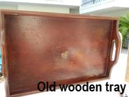 decoupage wall art tray before