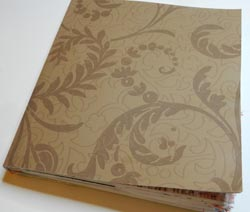 recycled paper journal glued cover