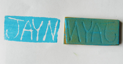 handmade foam stamp