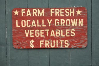 locally grown food versus imported organic