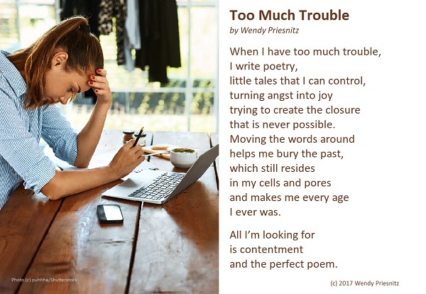 Too Much Trouble - A Poem by Wendy Priesnitz